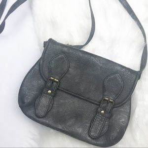 Urban Outfitters Ecote Grey Embossed Crossbody Bag